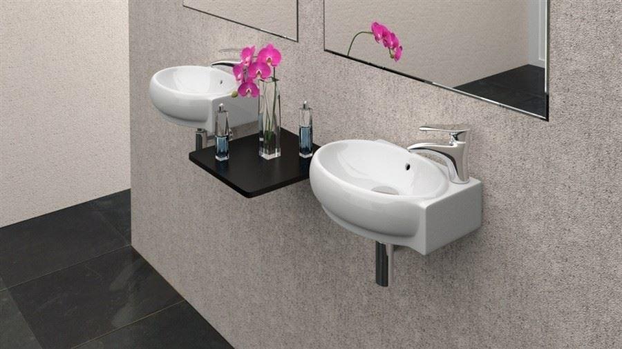Wash Basins For Small Bathrooms : Home / Wash Basins / Cloakroom Modern Wash Basin Giosetta