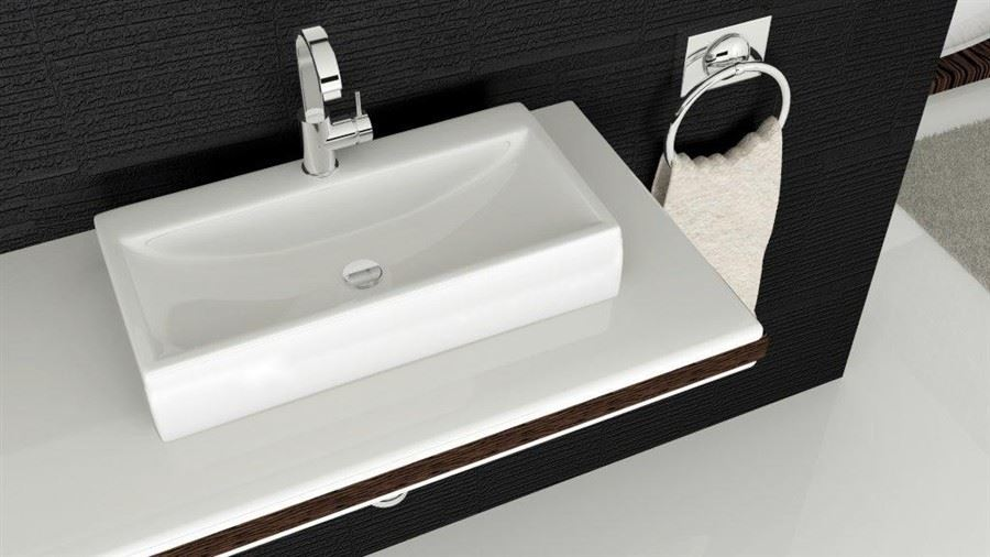 Small Wash Basin Price : Home / Wash Basins / Counter Top Wash Basins / Rectangular Small ...