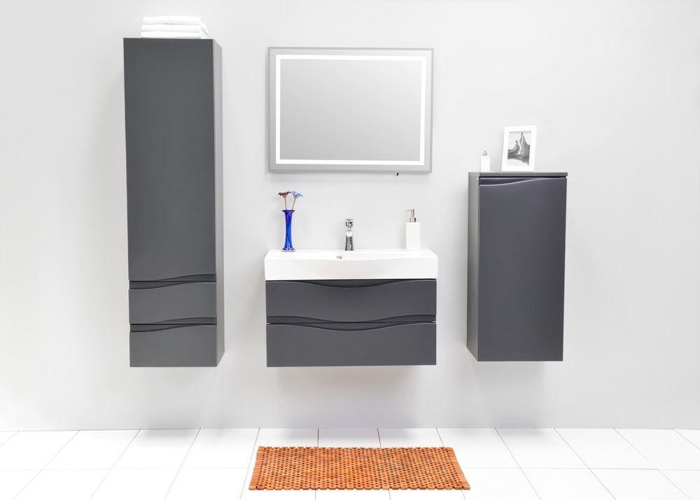 Bathroom Avenue Wall Mounted Bathroom Cabinet With Sink Graphite Mauricio