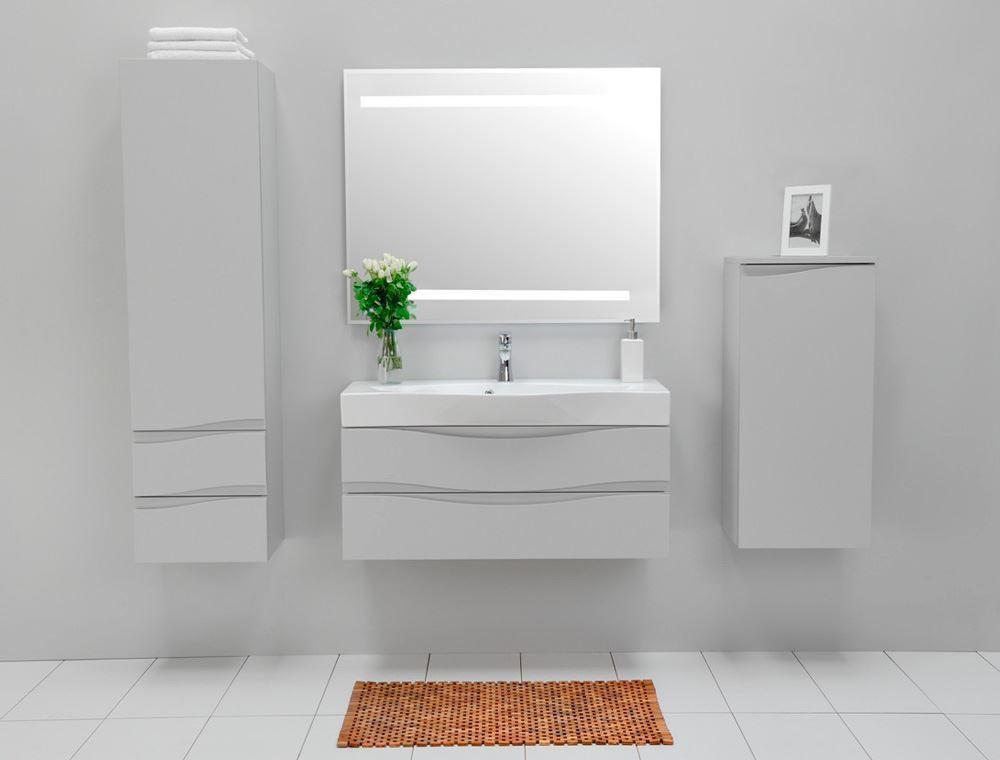 Bathroom Avenue Wall Mounted Bathroom Cabinet With Sink Grey Mauricio