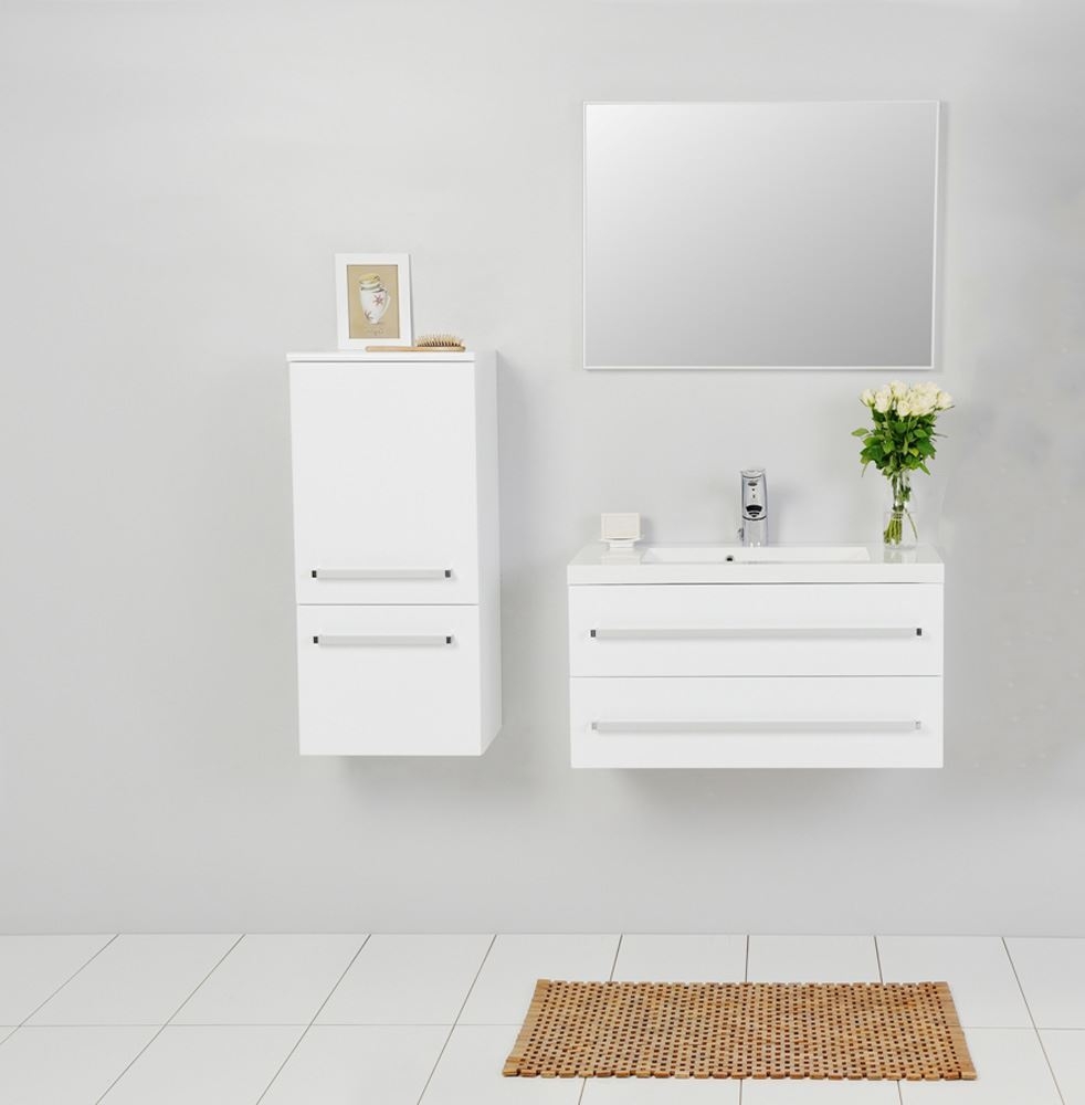 Bathroom avenue modern bathroom wall cabinet white for Bathroom wall
