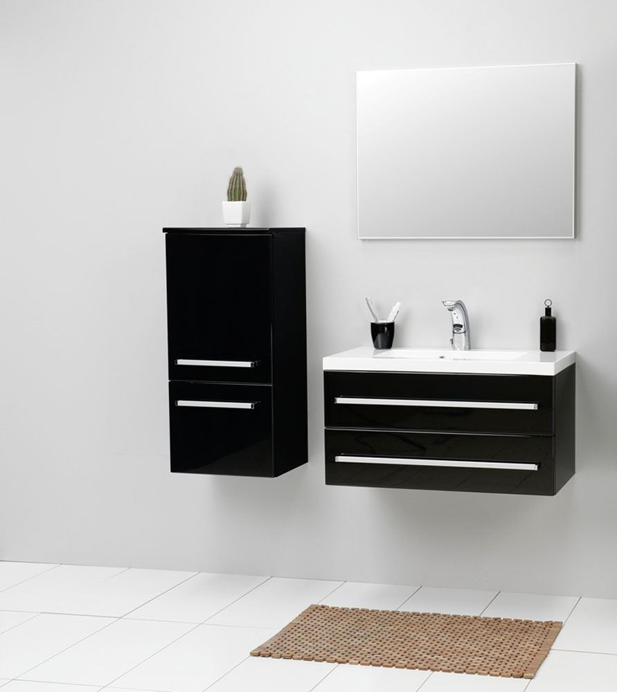 Bathroom Avenue Modern Bathroom Wall Cabinet Black