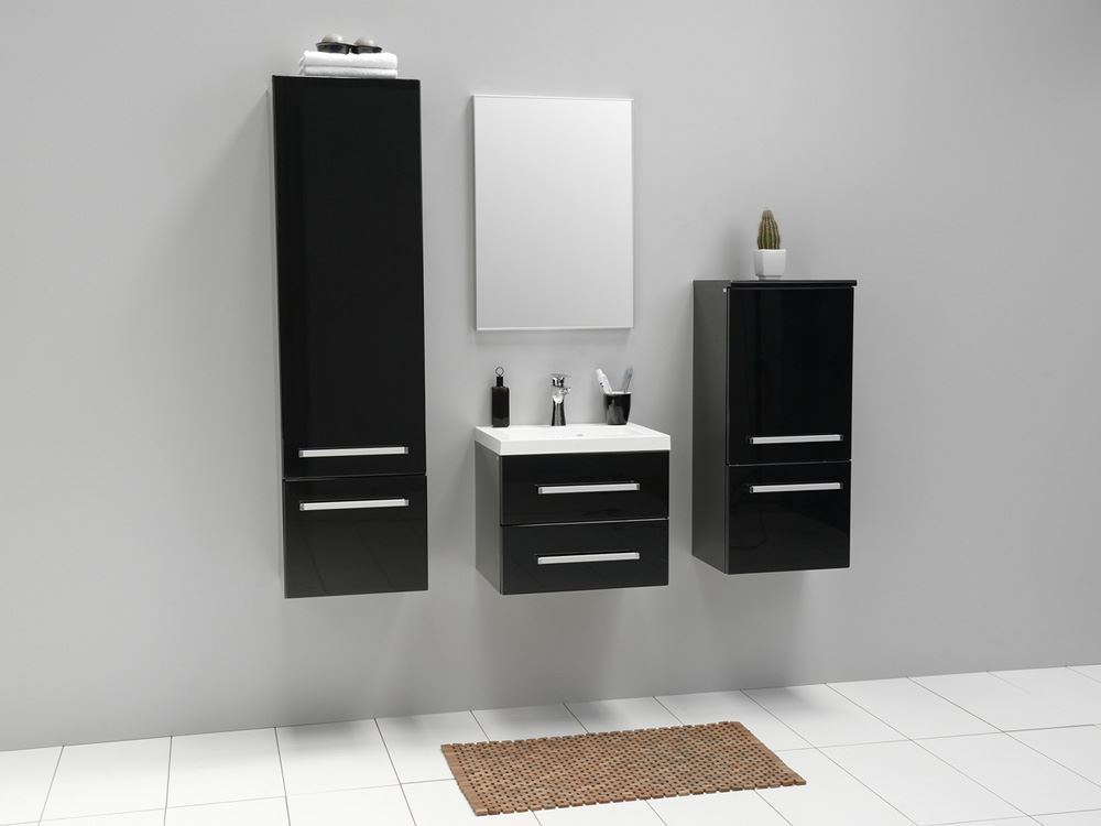 Simple black bathroom cabinets and storage units placement lentine marine 46553 - Modern bathroom cabinets storage ...