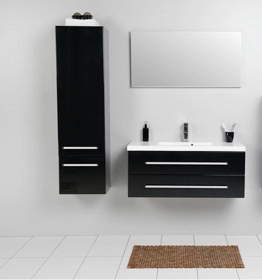 bathroom avenue modern tall bathroom storage unit black
