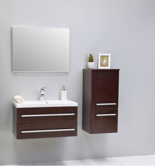 Bathroom avenue wenge modern bathroom wall cabinet francesca wenge bathroom storage unit - Modern bathroom cabinets storage ...
