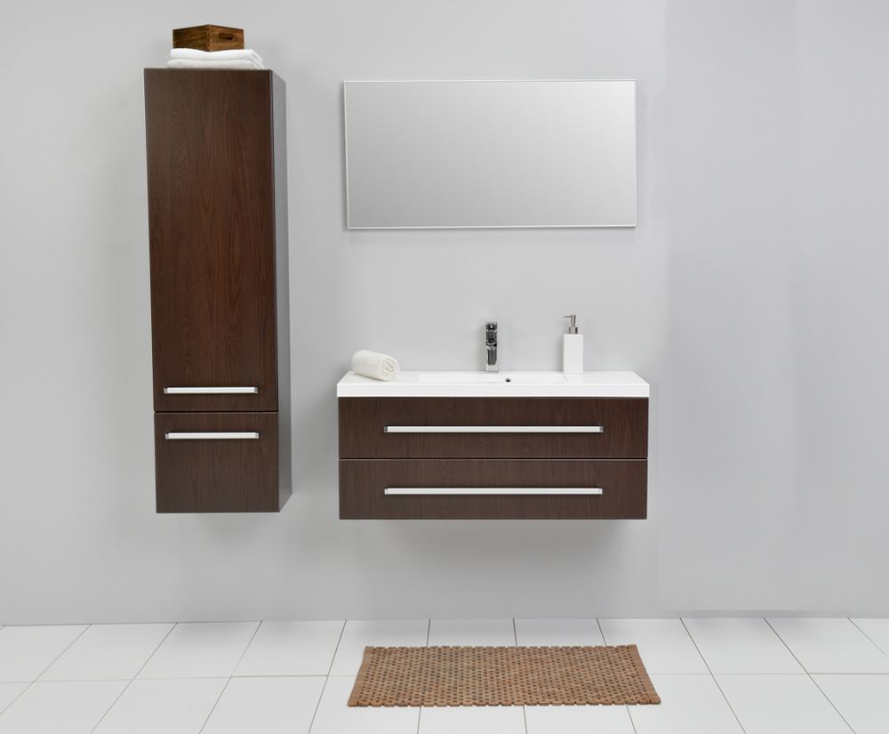 Bathroom avenue modern tall bathroom storage unit wenge francesca wenge tall bathroom wall - Modern bathroom cabinets storage ...