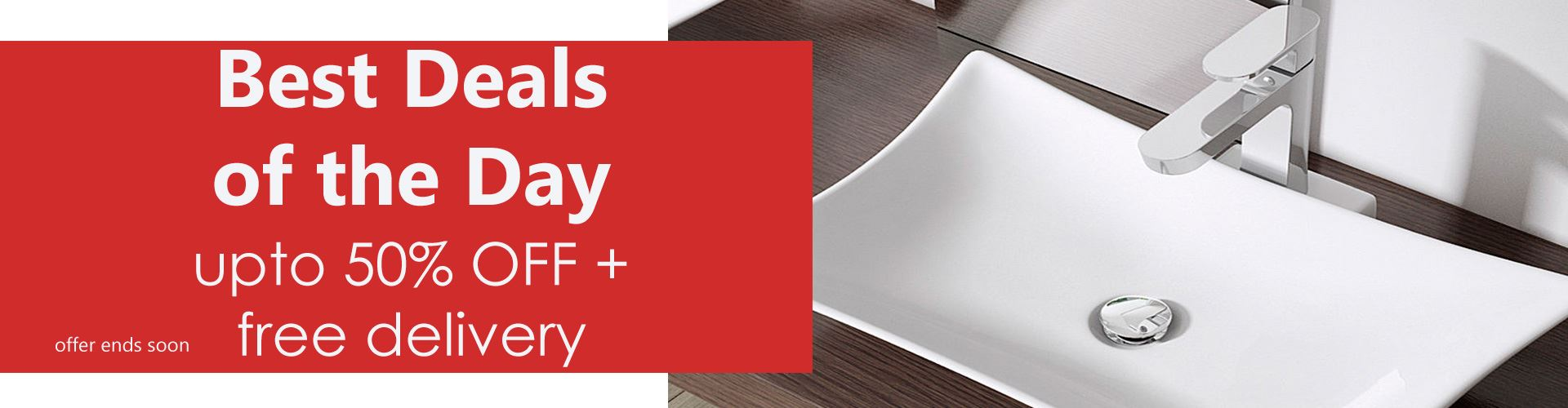 50% OFF + Free Delivery Counter Top Basin