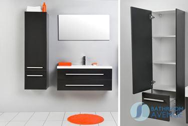 Tall Bathroom Cabinet Grey Giuseppine