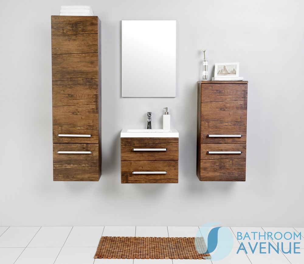 Wall Hung Resin Basin Vanity Unit 2 Drawer Antique Wood Giuseppine Contemporary Sink Cabinet