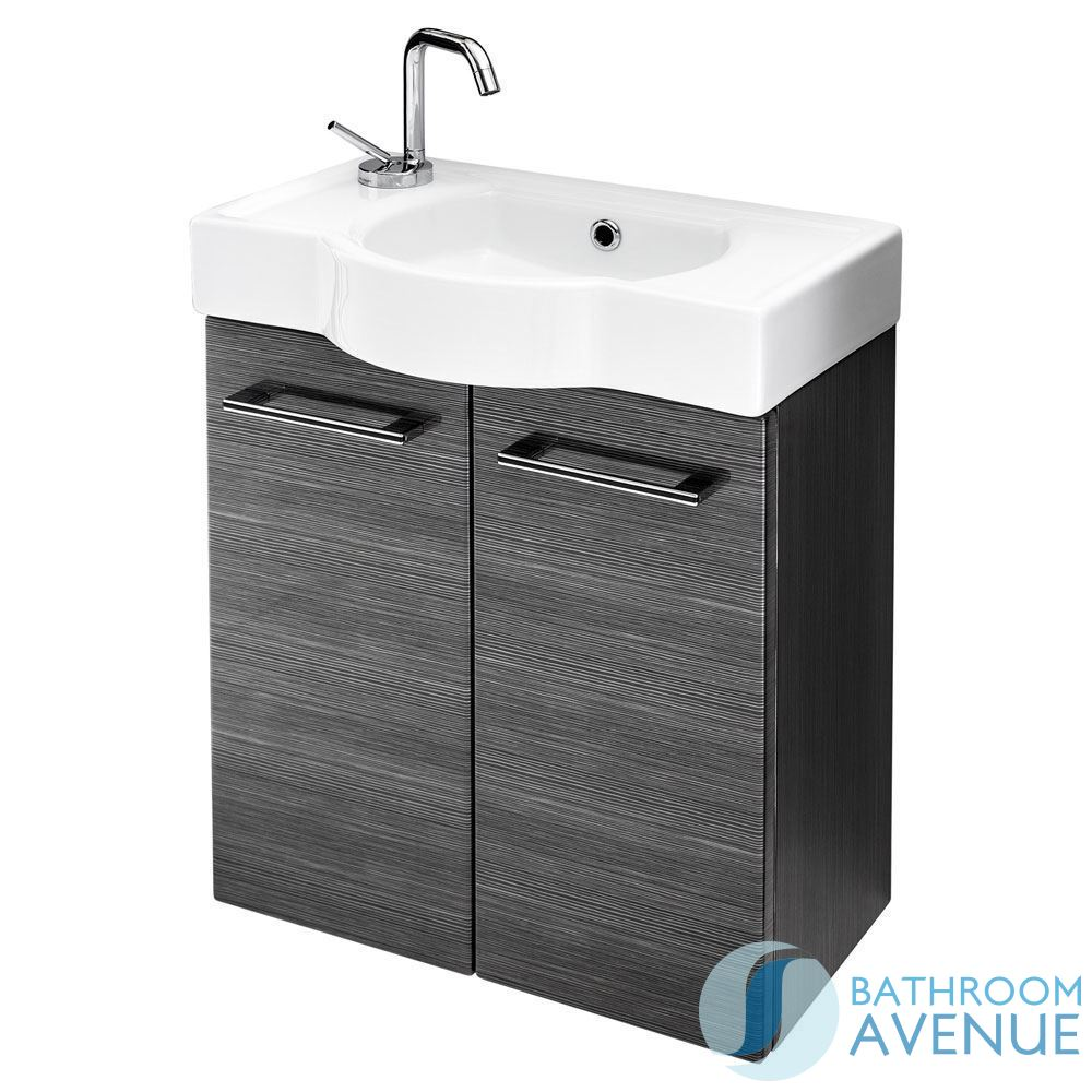 Cloakroom small bathroom sink cabinet graphite tramonto for Bathroom sink and toilet cabinets