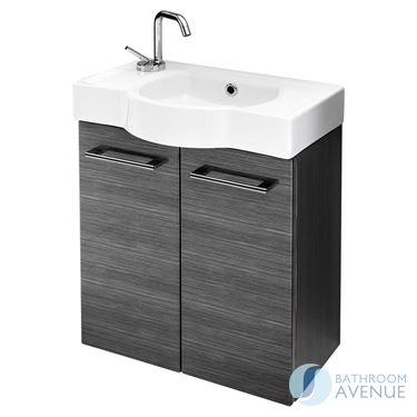Cloakroom Sink Cabinet Graphite Tramonto