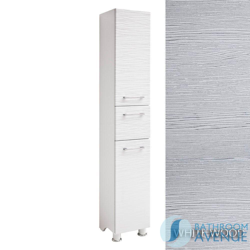 Freestanding bathroom laundry hamper cabinet white tramonto linen basket tall storage unit - Linen cabinet with laundry hamper ...