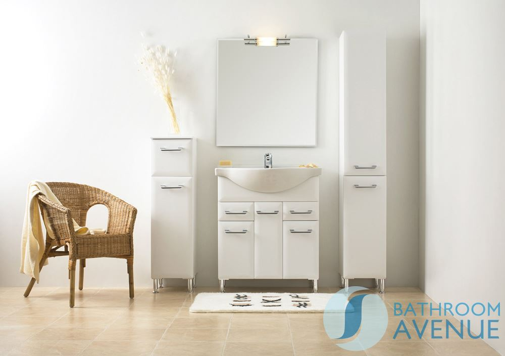 white bathroom laundry hamper tall cabinet unit bibiana