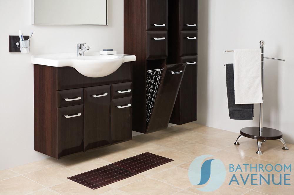 Tall Laundry Bathroom Cabinet Wenge Bibiana Tall Laundry Bathroom Cabinet Wenge Bibiana