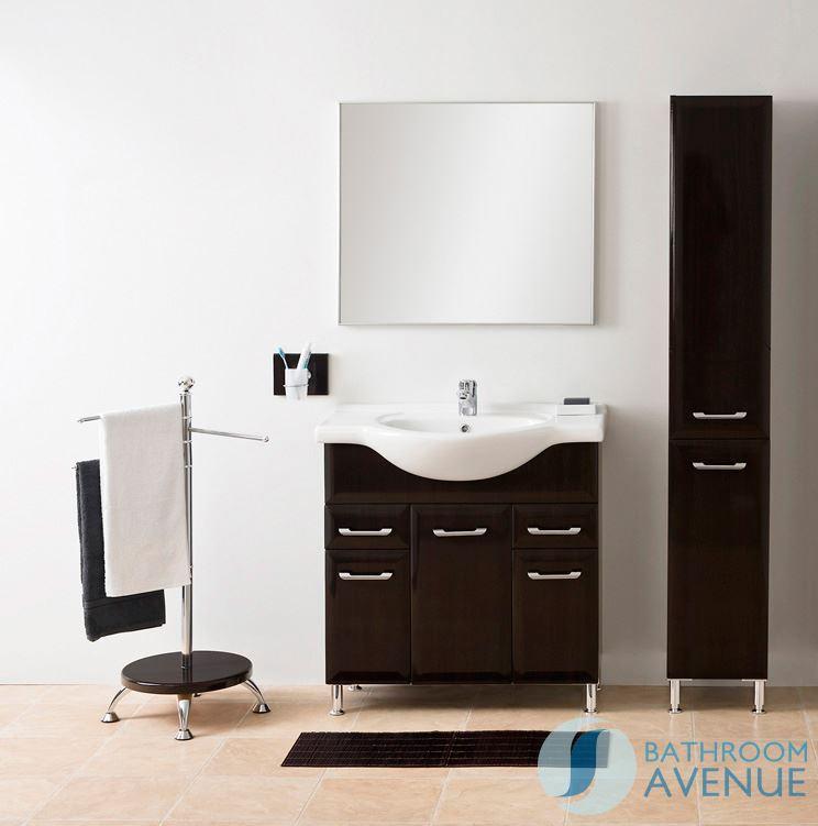 Bathroom Laundry Hamper Tall Cabinet Wenge Bibiana. Bathroom Store ...