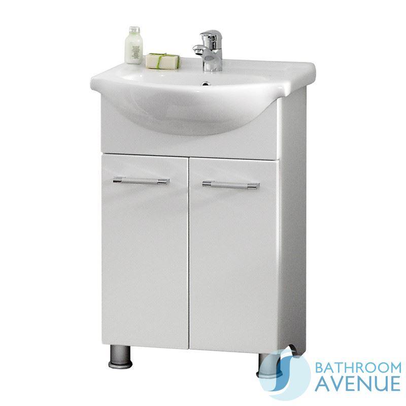 Modern Floor Standing Vanity Unit Sink Cabinet White Marea
