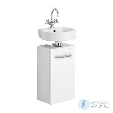 Cloakroom Vanity Unit Gloss White Marea