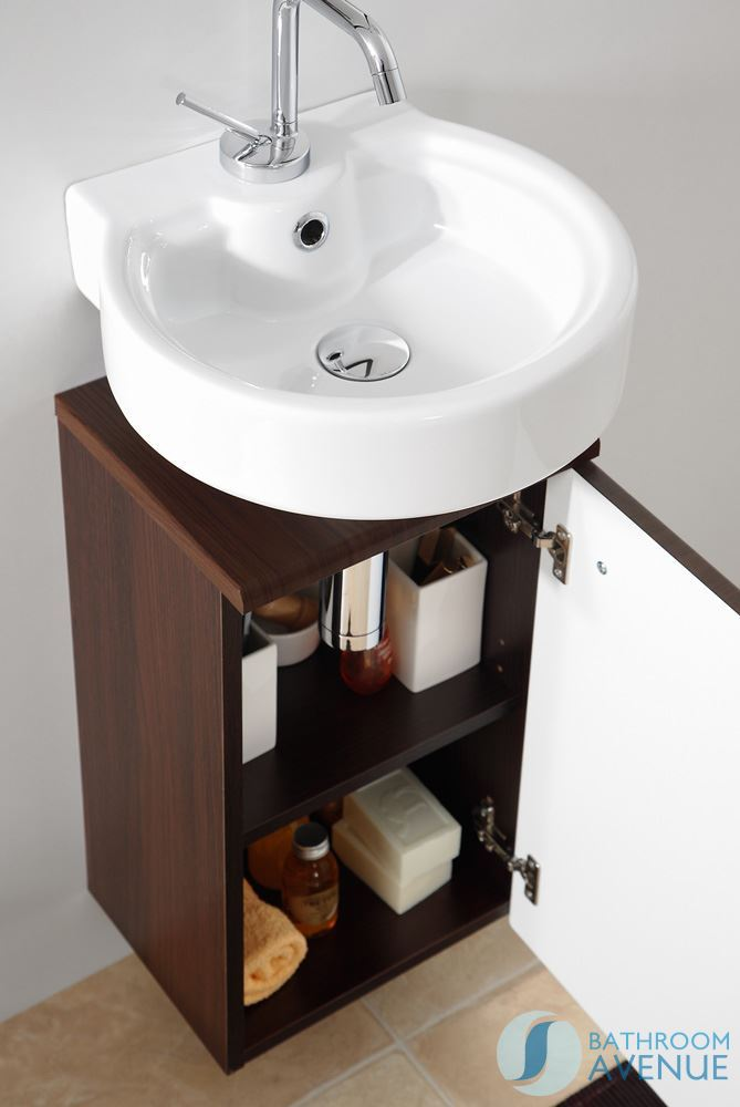 Charming ... Small Bathroom Vanity Unit Wenge Marea 300mm ...
