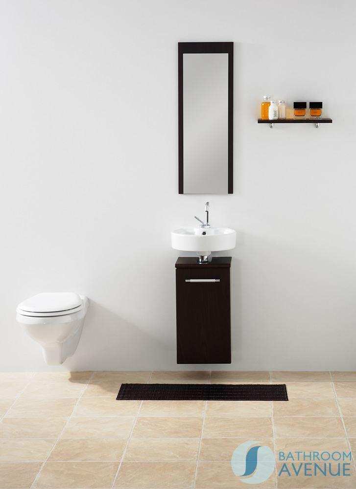 Small Bathroom Vanity Unit Wenge Marea 300mm