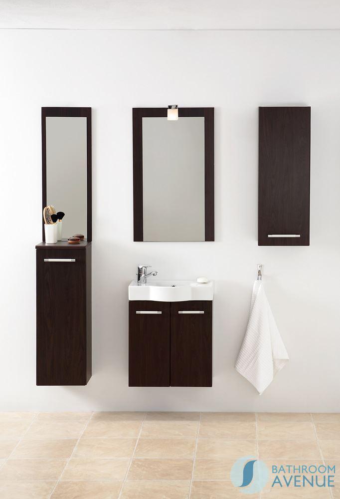Small Bathroom Cloakroom Vanity Unit Wenge Marea Bathroom Store