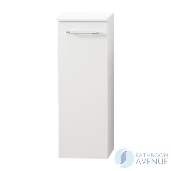 Small Bathroom Cloakroom Storage Unit White Marea
