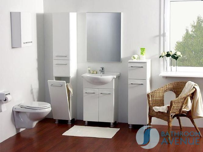 White Bathroom Laundry Storage freestanding bathroom laundry hamper tall storage cabinet gloss