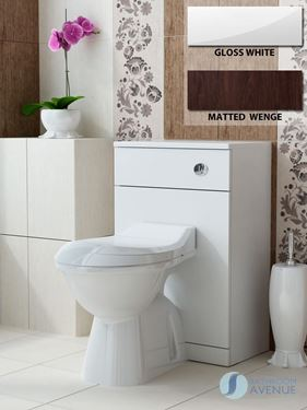 Back to Wall Toilet Unit Gloss White or Matted Wenge Marea