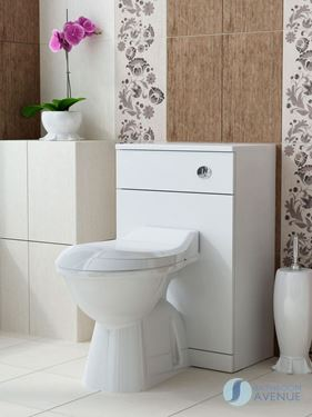 Back to Wall Toilet Unit White Bibiana