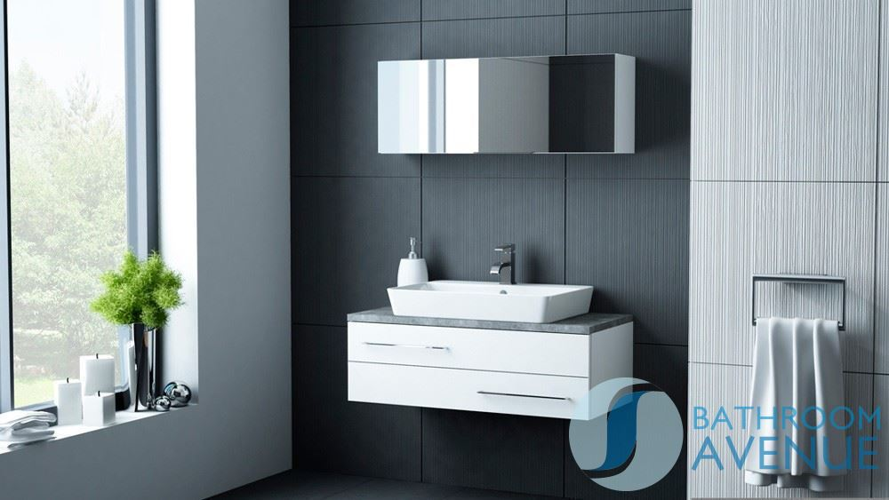 Modern Vanity Unit White Counter Top Basin White Sink Cabinet - Bathroom vanity unit worktops for bathroom decor ideas