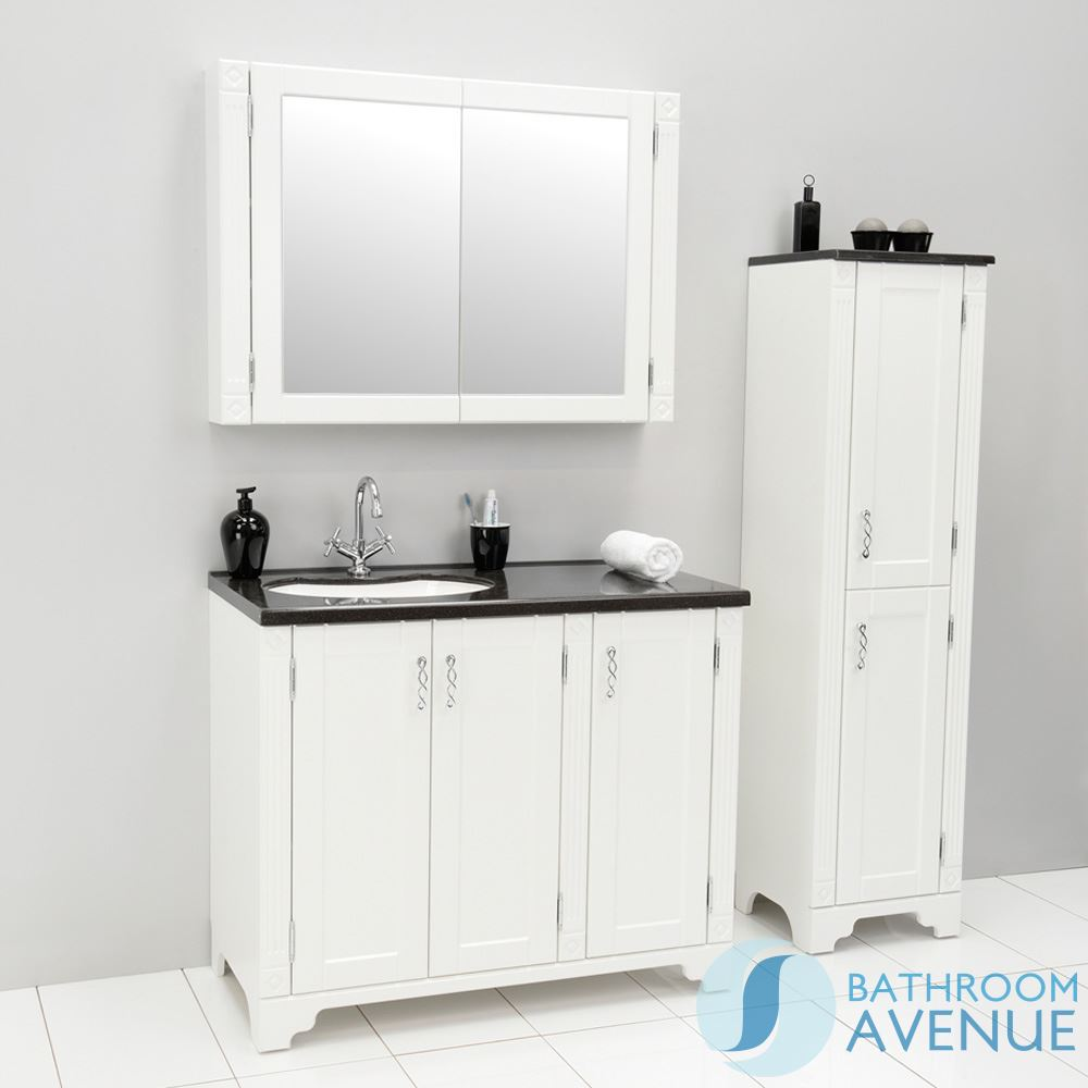 Freestanding Bathroom Tall Cabinet Matted White