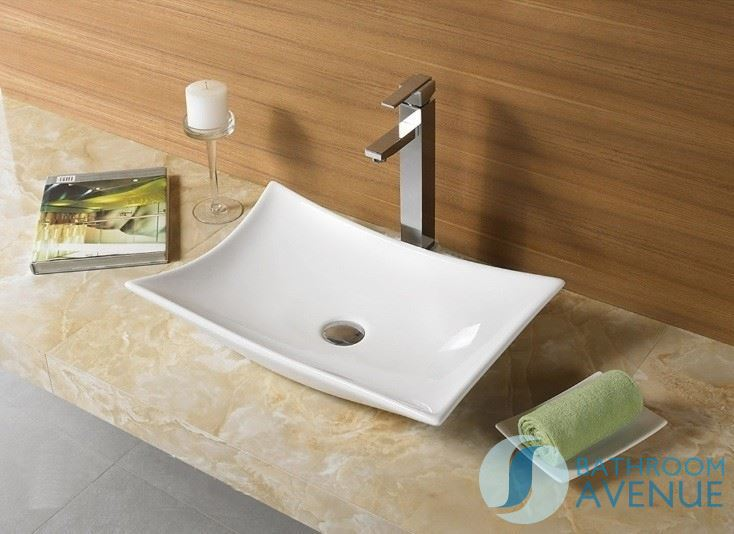 Contemporary Modern Rectangular Counter Top Wash Basin Camille ...