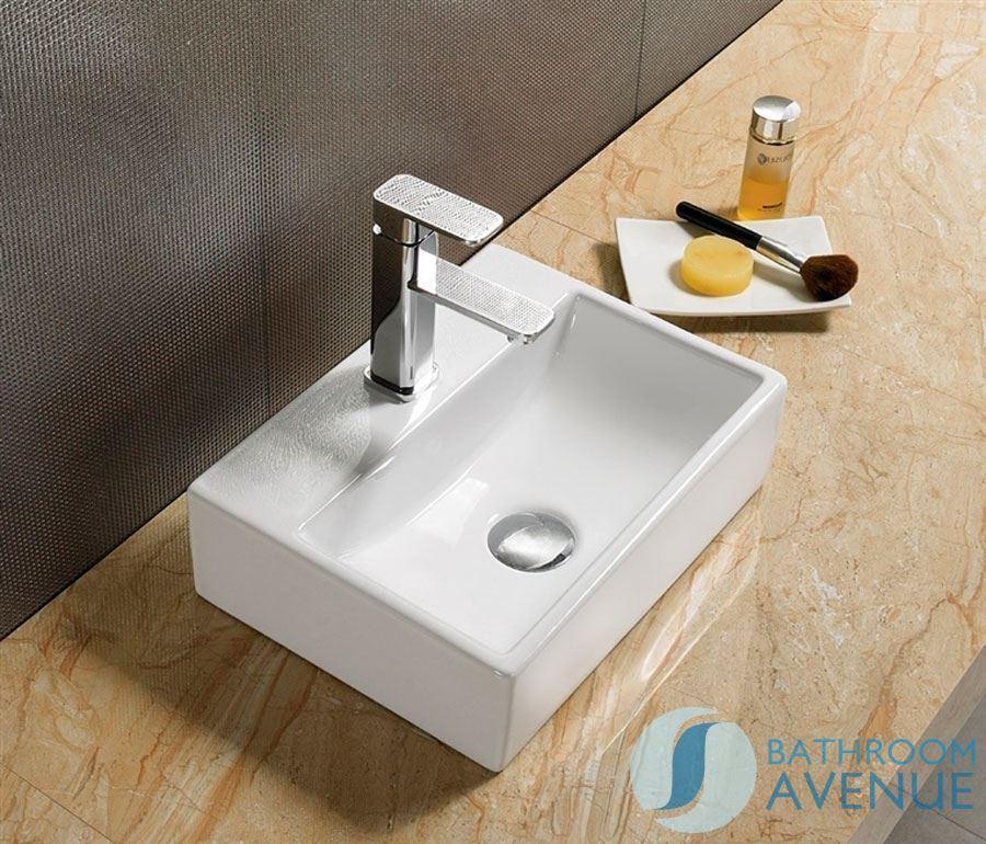 Small ceramic counter top wash basin gulia cloakroom for Small bathroom basins