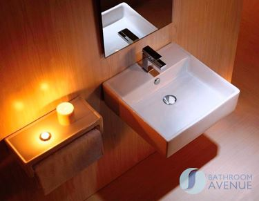 Small Bathroom Cloakroom Square Wash Basin Eva