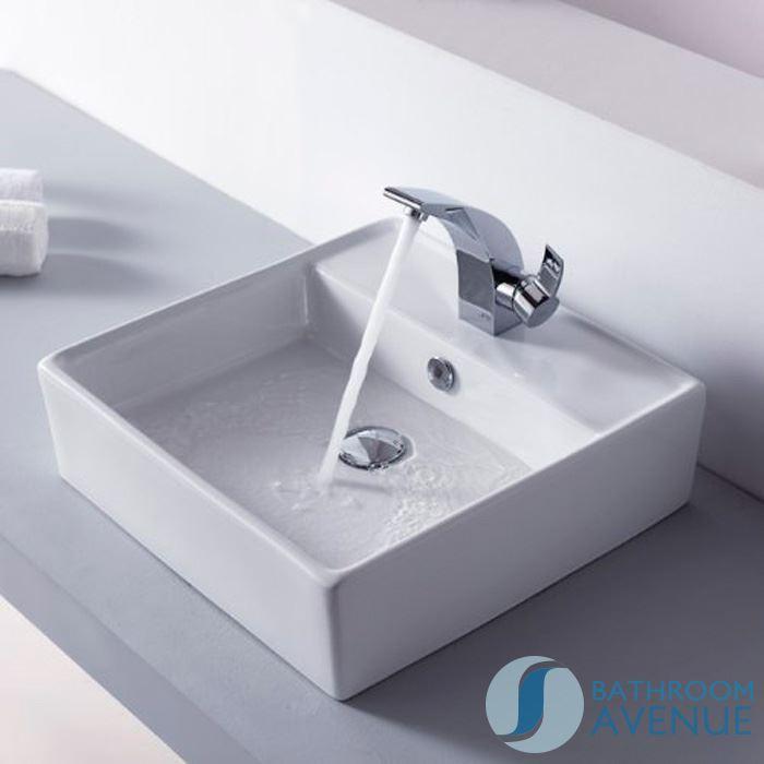 Small modern square wash basin eva cloakroom small for Small bathroom basins