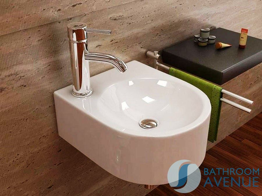 Small modern counter top wash basin mattea compact wall for Small bathroom basins