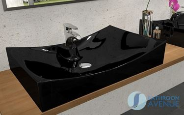 Contemporary Black Counter Top Basin Robertina
