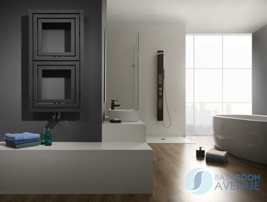 Beau Modern Vertical Horizontal Bathroom Radiator