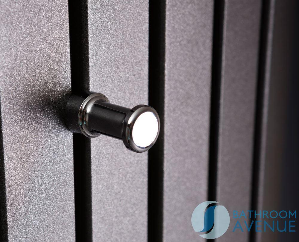 Modern radiator hanging peg chrome bathroom radiator for Picture hanging pegs