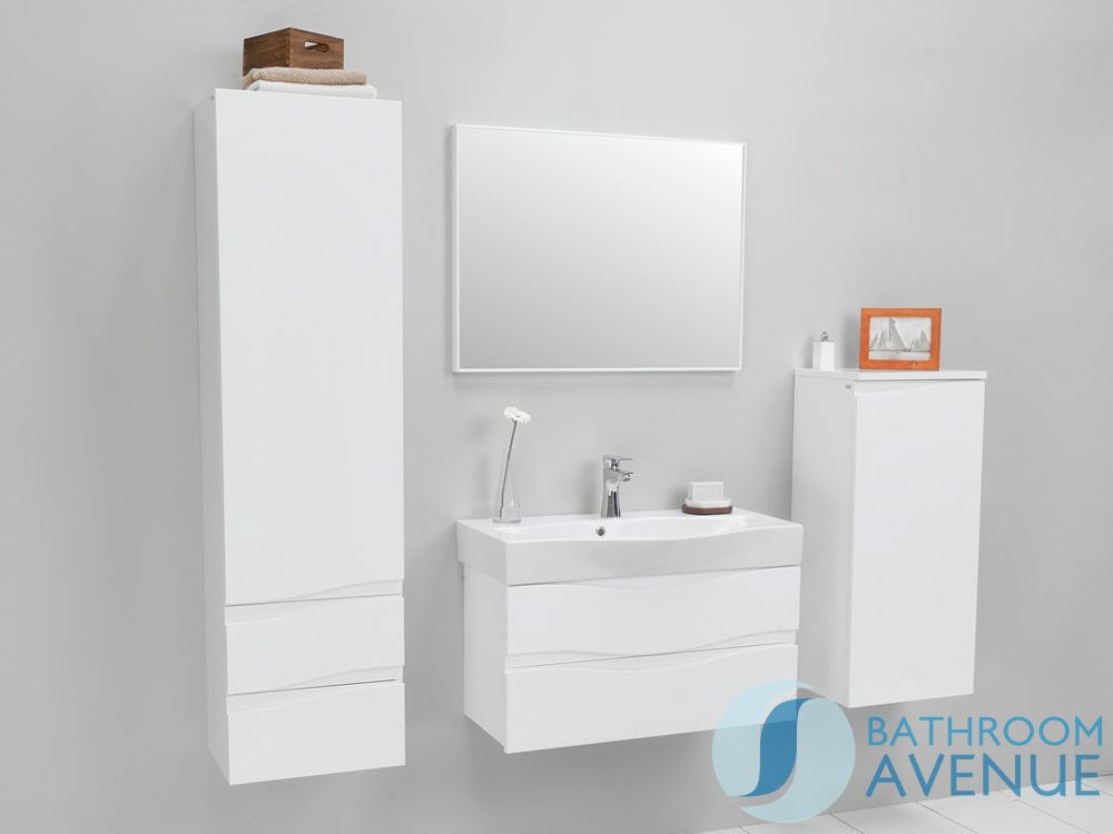 ... Wall Mounted Bathroom Sink Cabinet White ...