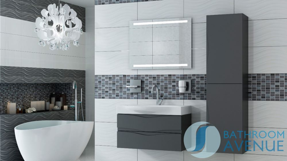wall mounted bathroom cabinet with sink graphite mauricio