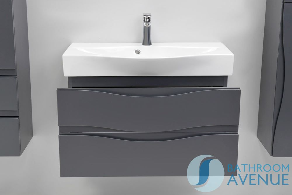 Wall Mounted Bathroom Sink Cabinet Graphite