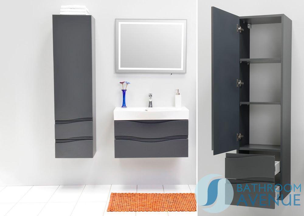 modern bathroom wall cabinet graphite mauricio bathroom