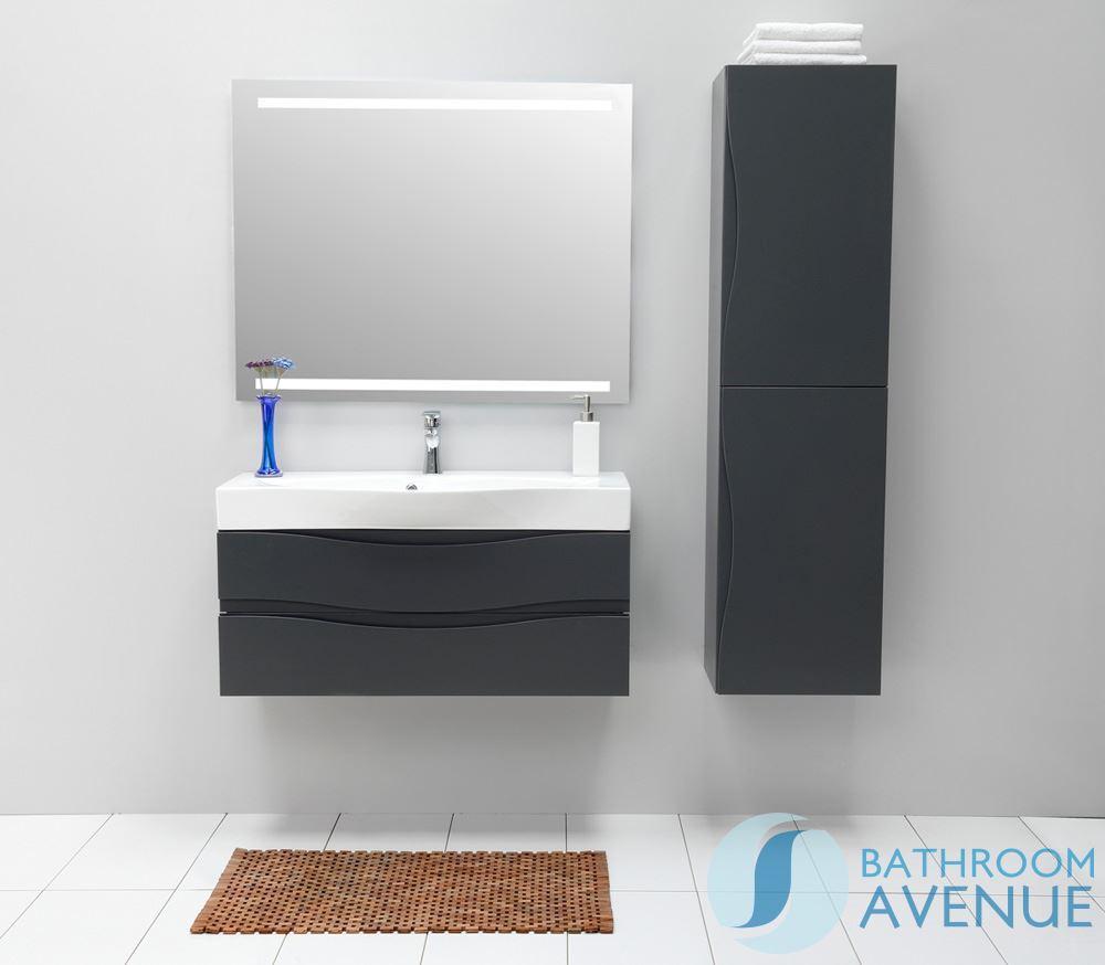 Modern bathroom wall storage -  Modern Bathroom Wall Cabinet Double Door Graphite Mauricio