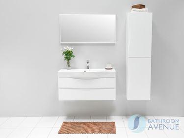 White Modern Double Dorr Storage Unit Mauricio