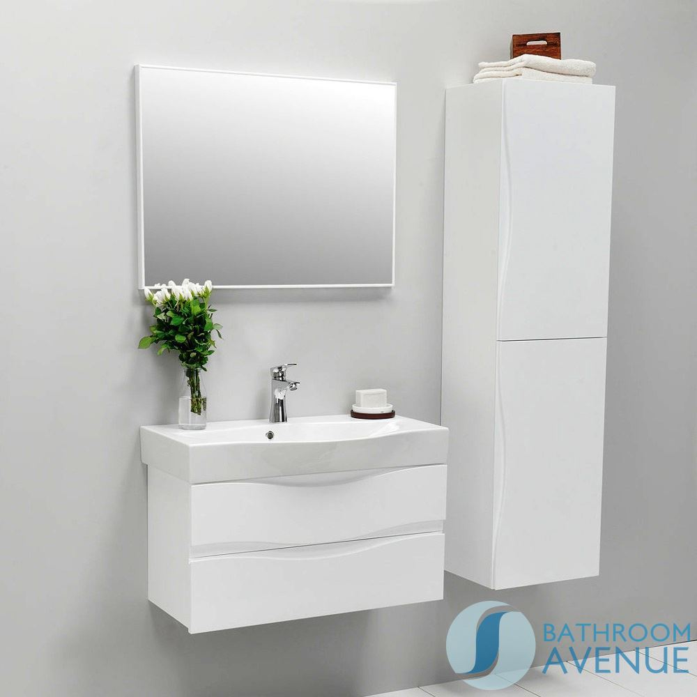 Modern bathroom wall cabinet double door white mauricio white contemporary bathroom wall door - Modern bathroom cabinets storage ...