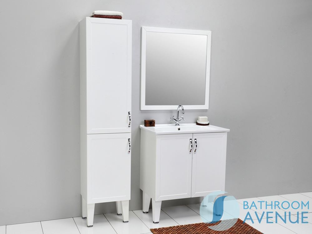 traditional freestanding bathroom cabinet white classico