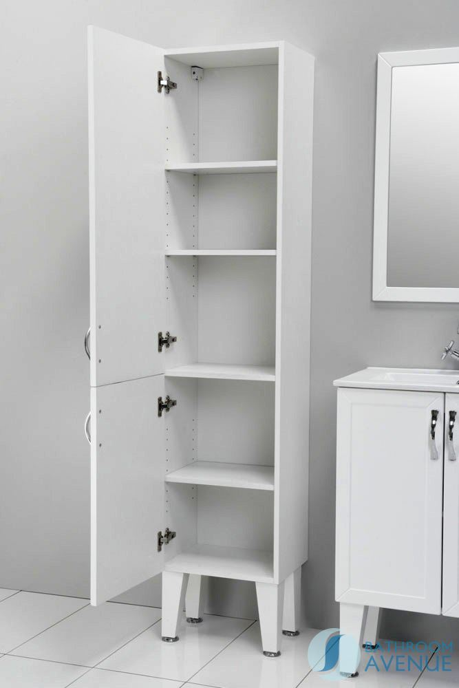 Free Standing Bathroom Cabinets Uk traditional freestanding tall bathroom cabinet white classico