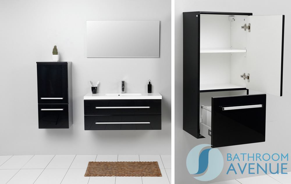 modern bathroom wall cabinet black francesca bathroom wall hung