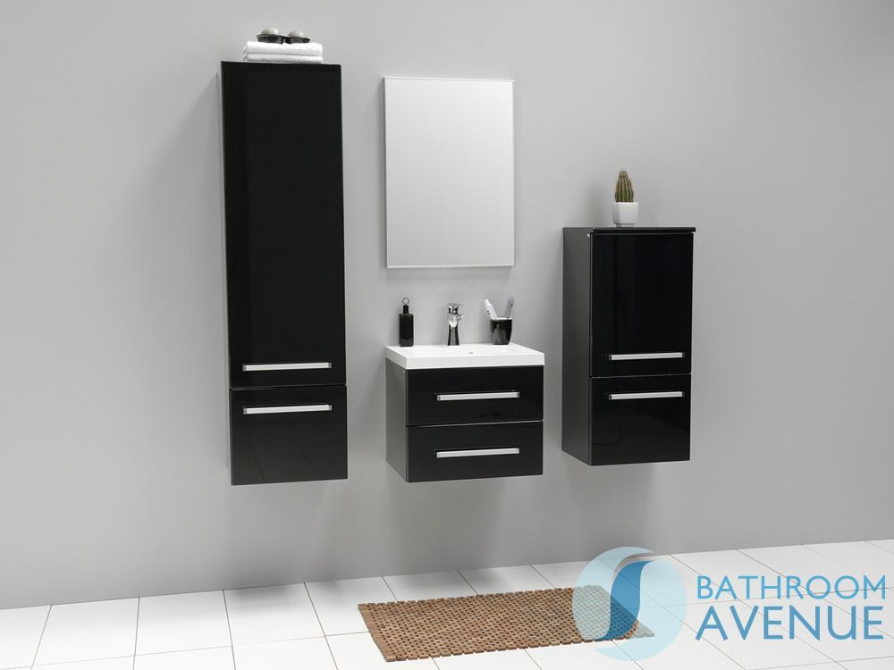 Modern bathroom wall cabinet black francesca bathroom wall hung storage unit black bathroom - Modern bathroom cabinets storage ...