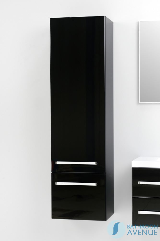 Cool 75quot Fresca FST8090BW Black Bathroom Linen Cabinet W 3 Large Storage